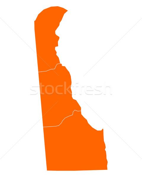 Harita Delaware seyahat ABD yalıtılmış örnek Stok fotoğraf © rbiedermann