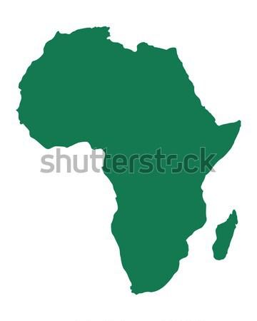 Harita Afrika arka plan hat Stok fotoğraf © rbiedermann