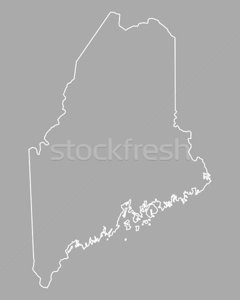 Mappa Maine USA vettore isolato illustrazione Foto d'archivio © rbiedermann
