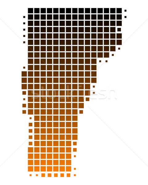 Mapa Vermont padrão américa EUA praça Foto stock © rbiedermann