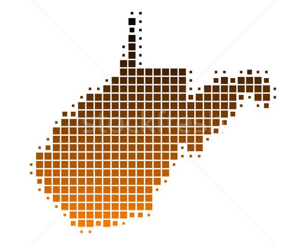 карта Западная Виргиния шаблон Америки США квадратный Сток-фото © rbiedermann