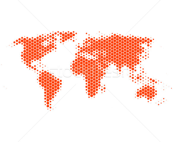 World map in hexagons Stock photo © rbiedermann