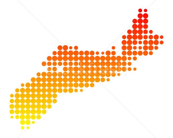 Térkép narancs minta kör pont Kanada Stock fotó © rbiedermann