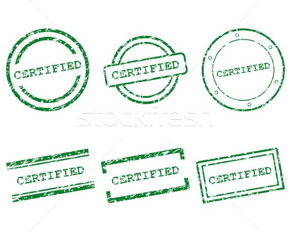 認定された スタンプ デザイン 手紙 スタンプ タグ ストックフォト © rbiedermann