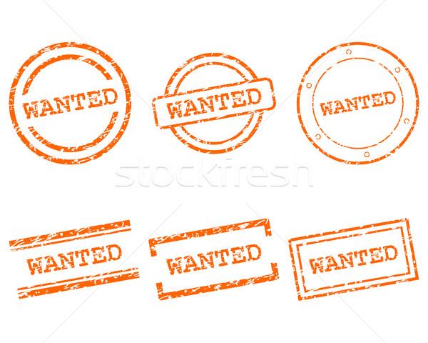 Gezocht postzegels gezondheid stempel grafische verkoop Stockfoto © rbiedermann