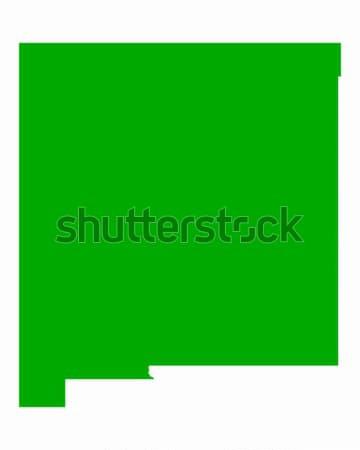 Kaart New Mexico groene reizen amerika USA Stockfoto © rbiedermann