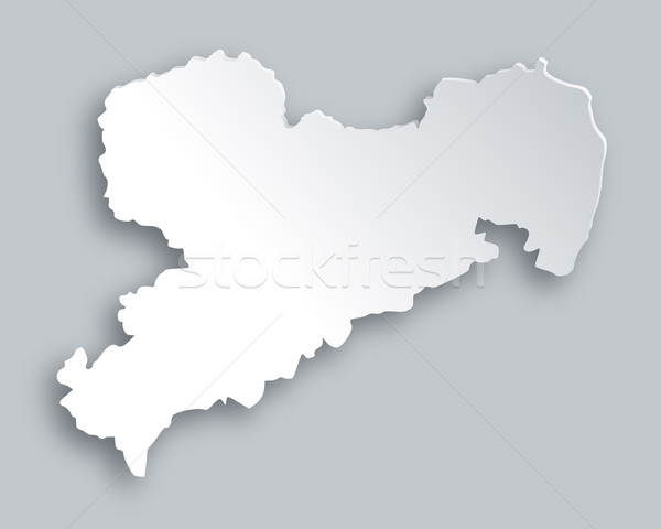 Map of Saxony Stock photo © rbiedermann