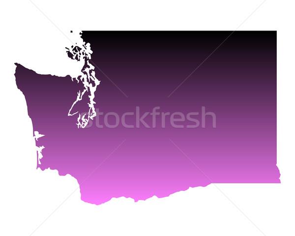 Térkép Washington háttér vonal Amerika USA Stock fotó © rbiedermann