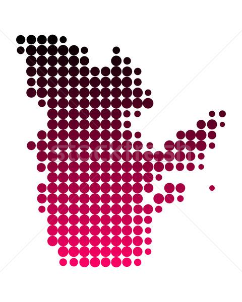 Mappa Québec pattern rosa viola cerchio Foto d'archivio © rbiedermann