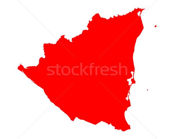 Térkép Nicaragua utazás piros vektor Stock fotó © rbiedermann