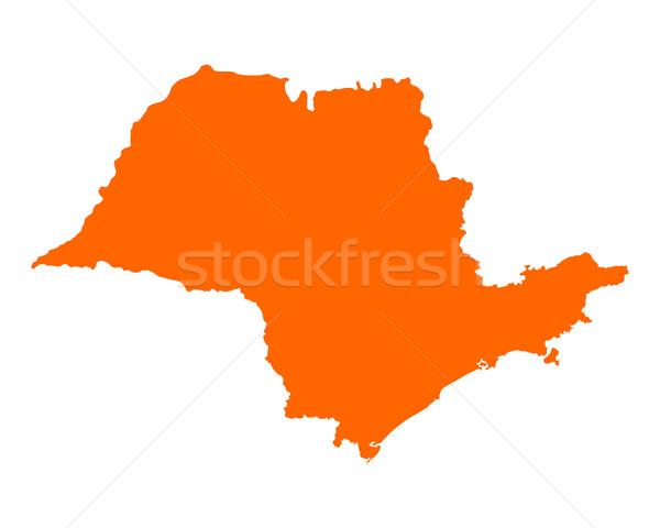 Сток-фото: карта · Сан-Паулу · вектора · изолированный · иллюстрация