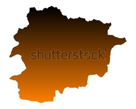 Kaart Andorra achtergrond lijn vector Stockfoto © rbiedermann