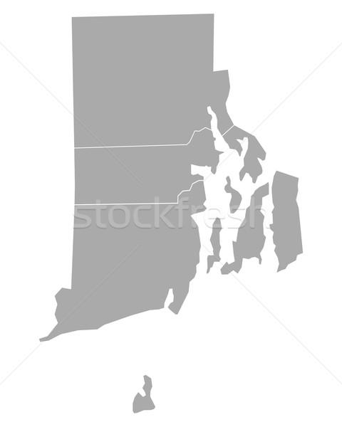 Mapa Rhode Island fundo ilha linha vetor Foto stock © rbiedermann