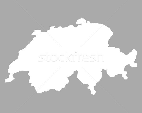 地図 スイス 背景 孤立した 実例 ストックフォト © rbiedermann