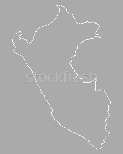 Mapa Peru isolado ilustração Foto stock © rbiedermann