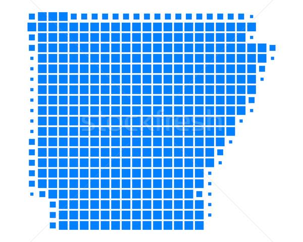 Mapa Arkansas azul patrón América cuadrados Foto stock © rbiedermann