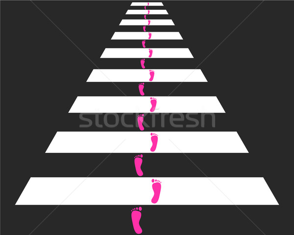 Cross piedi strada stampa nero traffico Foto d'archivio © rbiedermann