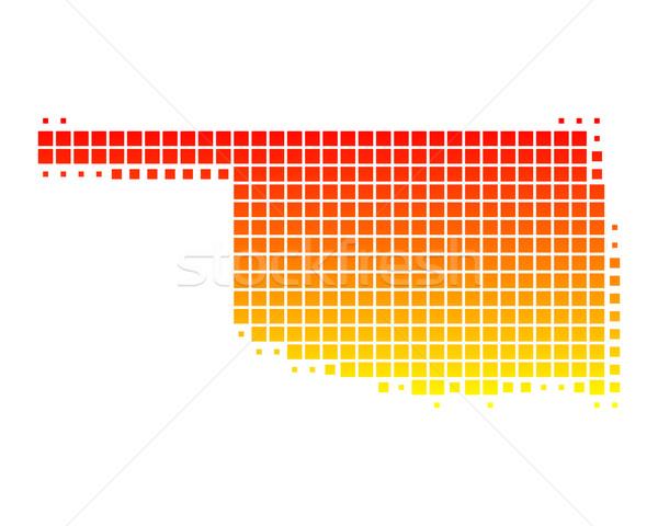 Kaart Oklahoma patroon amerika vierkante illustratie Stockfoto © rbiedermann