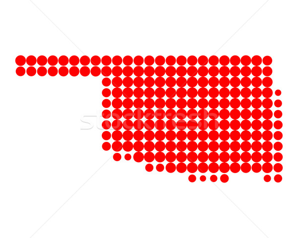 Kaart Oklahoma patroon amerika cirkel USA Stockfoto © rbiedermann