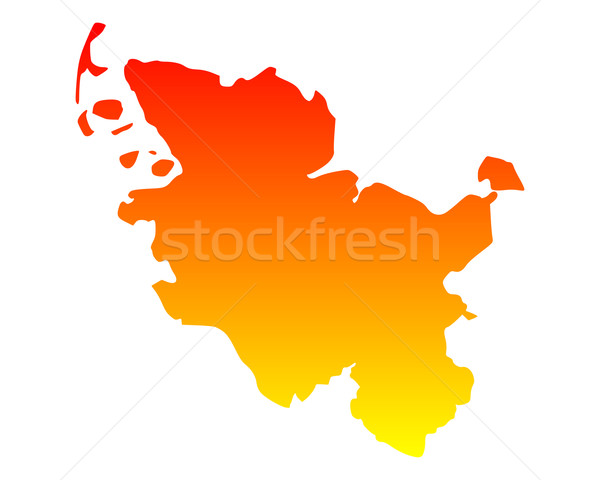 Map of Schleswig-Holstein Stock photo © rbiedermann