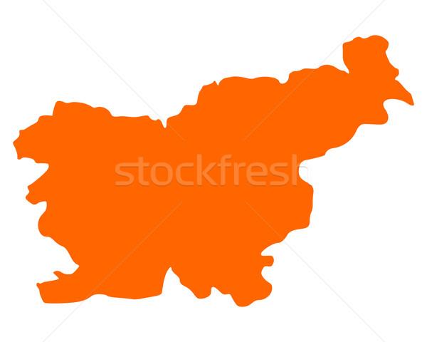 Mapa Eslovenia viaje vector Foto stock © rbiedermann