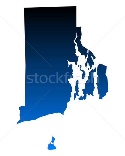 Harita Rhode Island mavi seyahat Amerika ABD Stok fotoğraf © rbiedermann