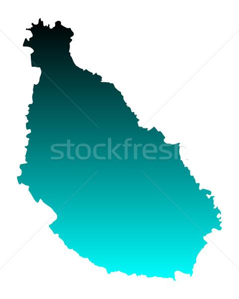 Kaart Santiago groene Blauw vector geïsoleerd Stockfoto © rbiedermann