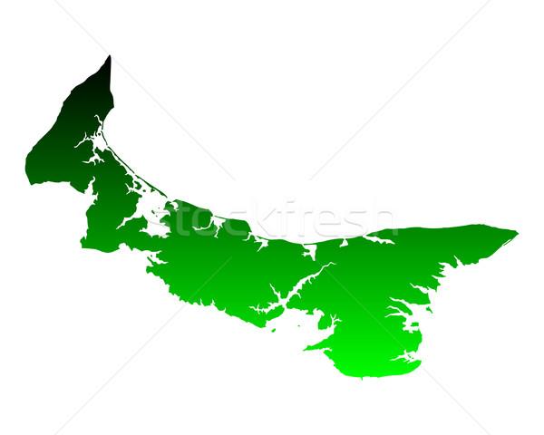 Mapa isla del príncipe eduardo verde isla vector aislado Foto stock © rbiedermann