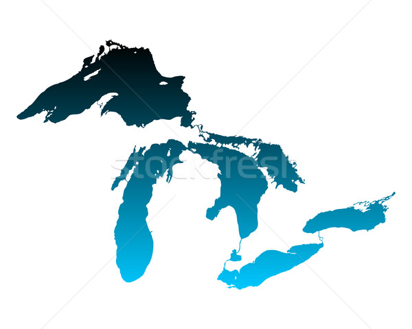 Map of Great Lakes Stock photo © rbiedermann