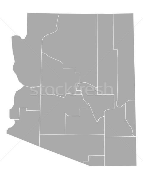 Karte Arizona Hintergrund line Vektor Illustration Stock foto © rbiedermann