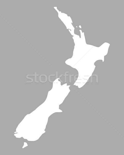 Map of New Zealand Stock photo © rbiedermann