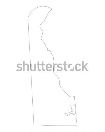 Mapa Delaware fundo linha EUA Foto stock © rbiedermann