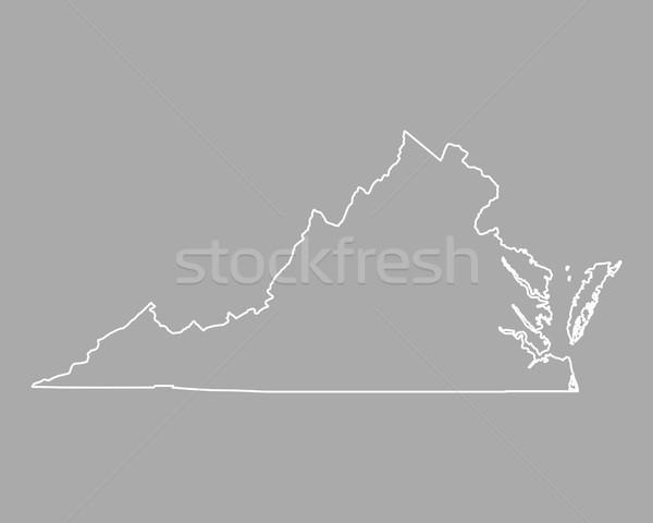 Carte Virginie USA vecteur isolé illustration Photo stock © rbiedermann