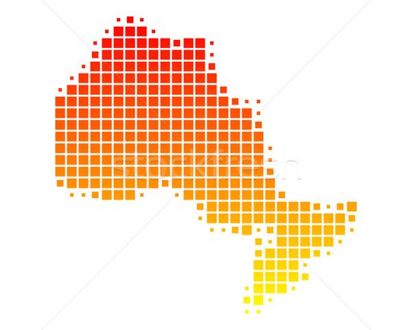 Map of Ontario Stock photo © rbiedermann
