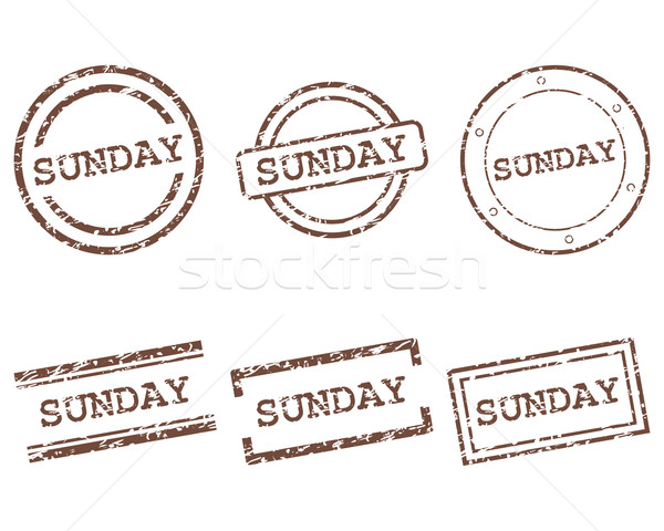 Sunday stamps Stock photo © rbiedermann