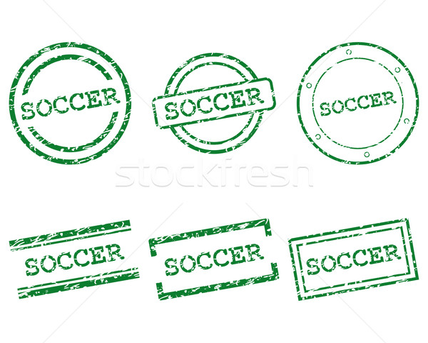 Stock photo: Soccer stamps
