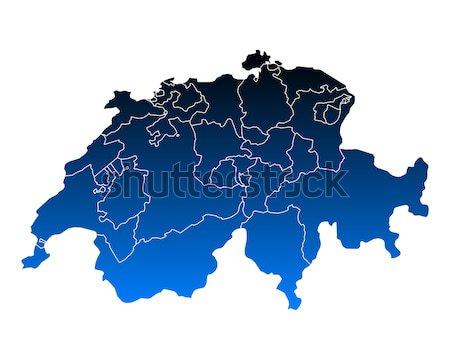 地図 スイス 青 ベクトル 孤立した 実例 ストックフォト © rbiedermann