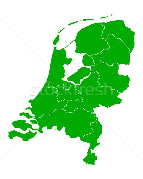 Map of thr Netherlands Stock photo © rbiedermann