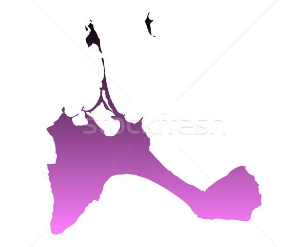 Harita pembe vektör İspanya yalıtılmış örnek Stok fotoğraf © rbiedermann