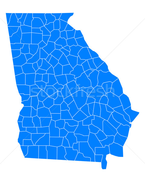 карта Грузия фон синий линия вектора Сток-фото © rbiedermann