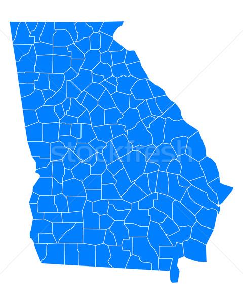 Mappa Georgia sfondo blu line vettore Foto d'archivio © rbiedermann