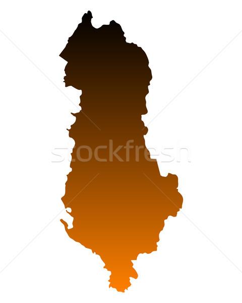 Mapa Albânia fundo linha vetor Foto stock © rbiedermann