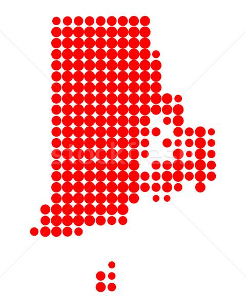 Mapa Rhode Island padrão américa círculo EUA Foto stock © rbiedermann