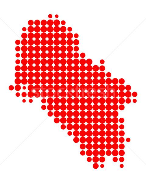 Mappa rosso isola pattern greco cerchio Foto d'archivio © rbiedermann