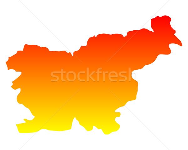 地図 スロベニア 旅行 ベクトル ストックフォト © rbiedermann