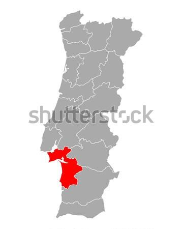 Mappa Portogallo viaggio isolato illustrazione grigio Foto d'archivio © rbiedermann