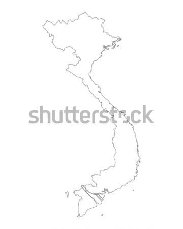 Harita Vietnam arka plan yalıtılmış örnek Stok fotoğraf © rbiedermann