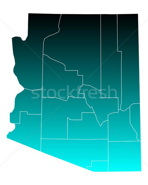 Map of Arizona Stock photo © rbiedermann