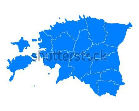 Kaart Blauw vector geïsoleerd illustratie aardrijkskunde Stockfoto © rbiedermann