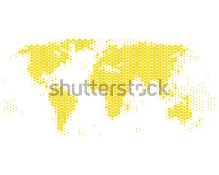 Mapa mapa del mundo mundo amarillo cuadrados vector Foto stock © rbiedermann